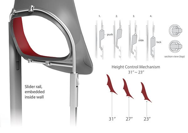座椅更可調校不同高度,以方便不同乘客。