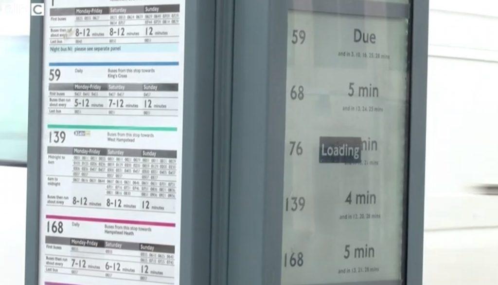 屏幕上的資訊會透過3G網絡自動更新。