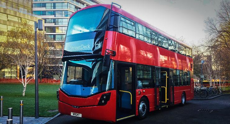 Wright Bus於2016年11月30日在倫敦市政廳正式推出的新零排放雙層巴士。