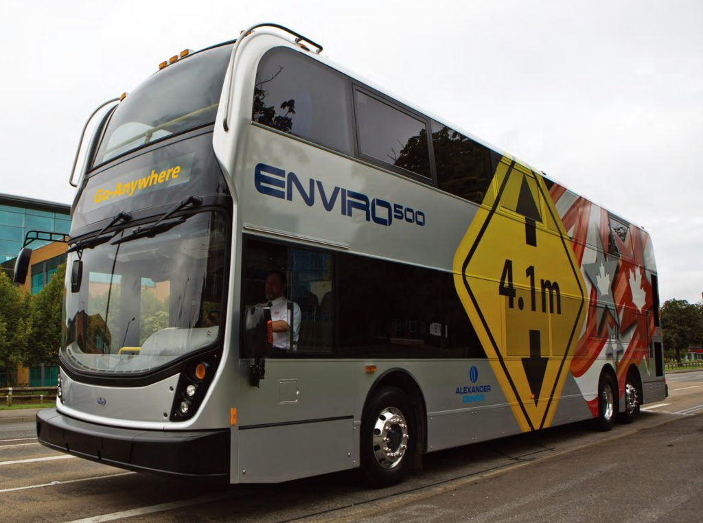 北美版的Enviro500 有4.1米及3.9米高度