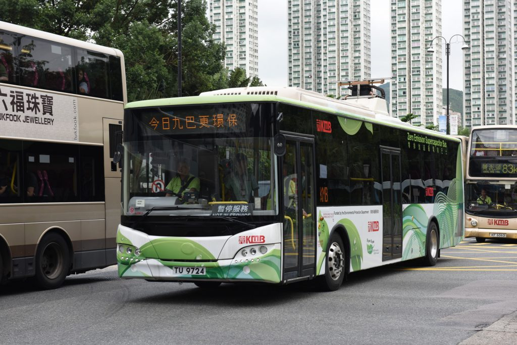 九巴青年「超級電容巴士」經過逾一年時間不載客測試。(Kevin Wong攝)