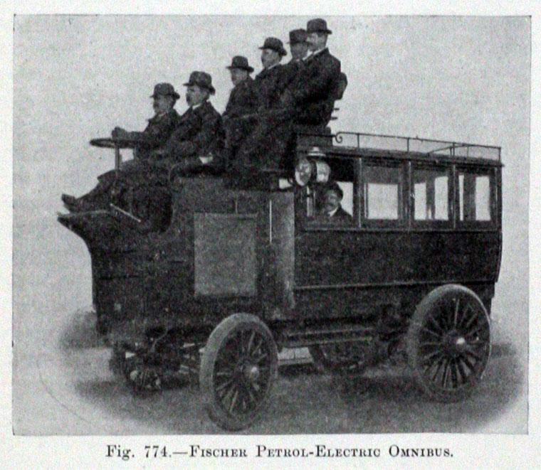 Fischer Petrol-Electric Omnibus 原單層版本