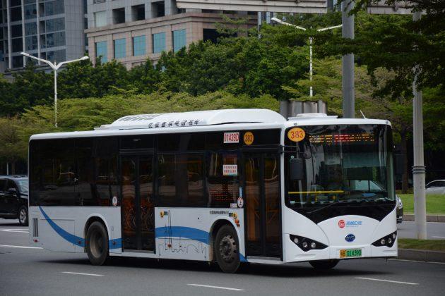 西部公汽比亞迪K8電動巴士。