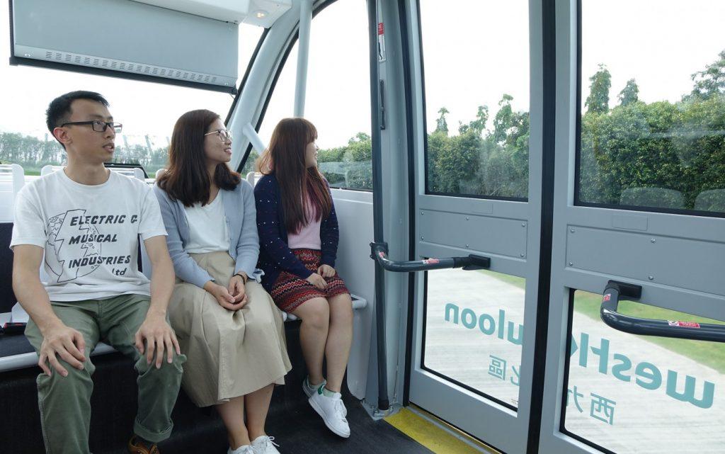 NAVYA ARAM全自動電動巴士可乘載11名乘客。圖片由西九文化區管理局提供
