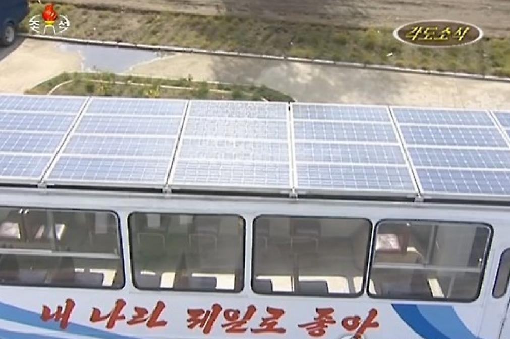 North Korea introduces solar powered buses