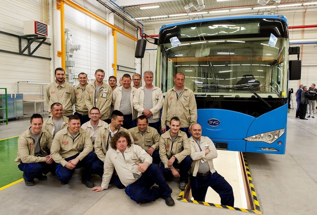 比亞迪於匈牙利Komárom的車廠將為該地區帶來300個職位