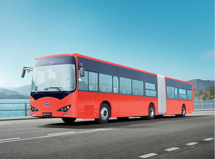 比亞迪的匈牙利廠房,將可生產18米長的掛接電動巴士。
