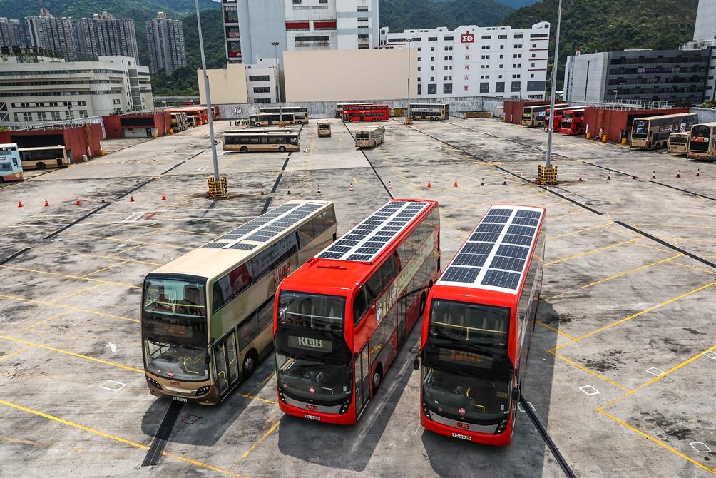 KMB Solar Panel Buses